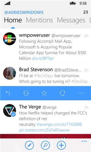app social twitter Windows Phone
