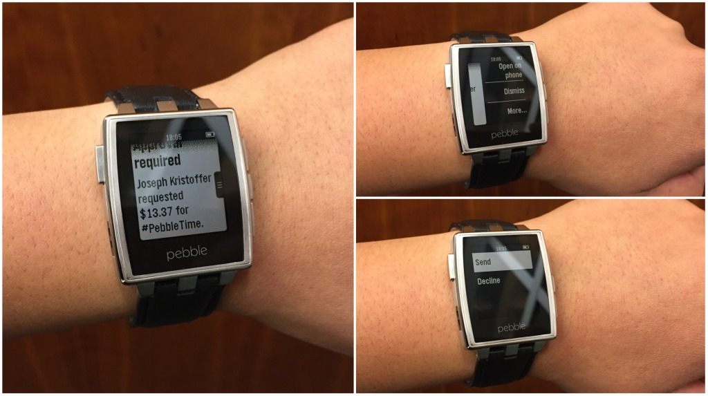 Android iOS Pebble smartwatch Update