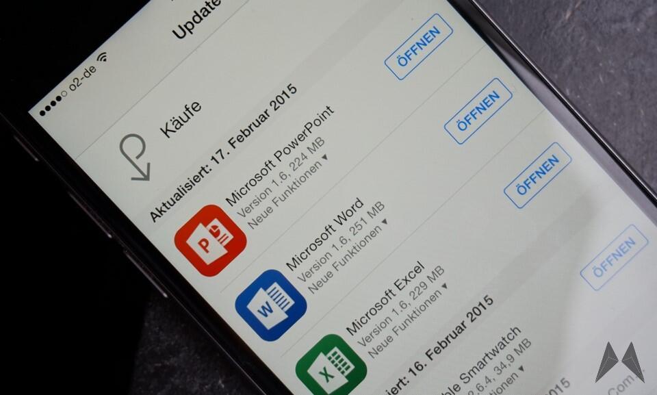 exel icloud iOS office powerpoint word