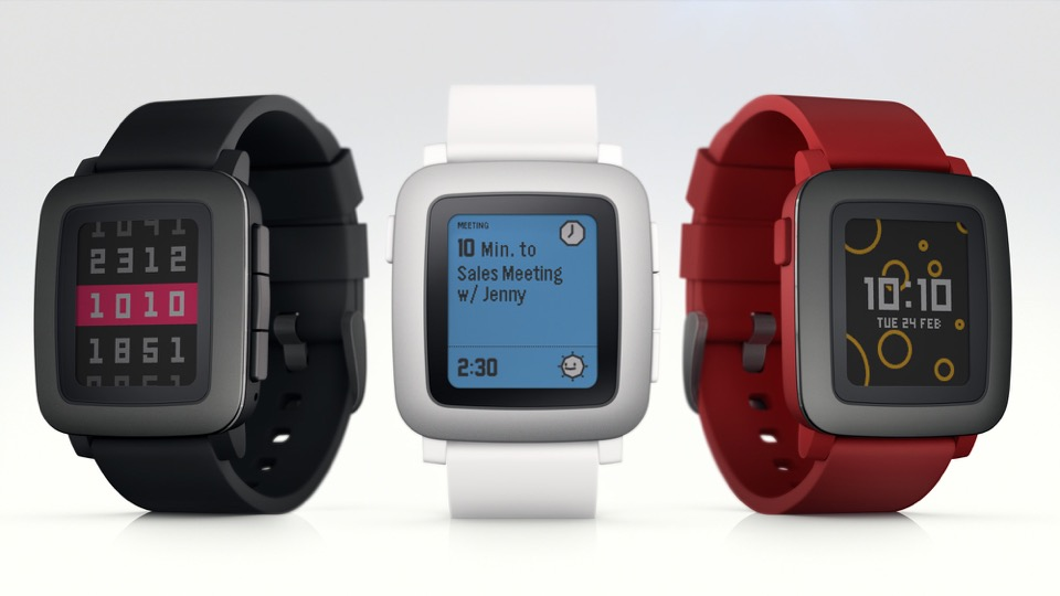 Android iOS Pebble smartwatch time Uhr