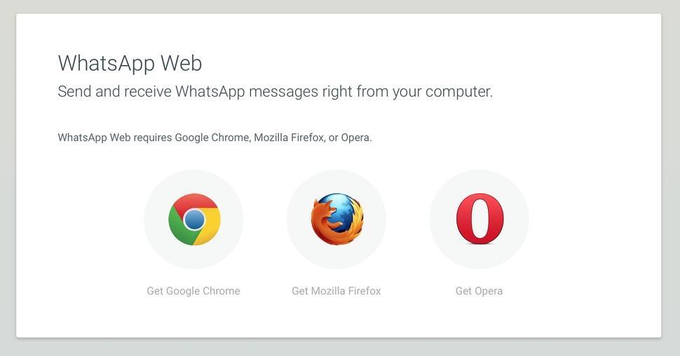 firefox Opera web whatsapp