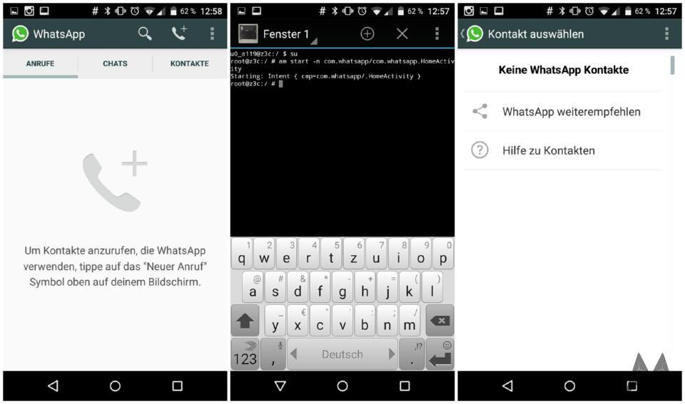 Android modding root Telefonie whatsapp