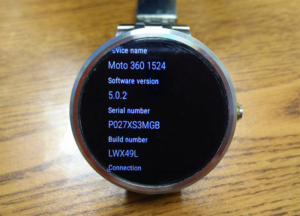 Android LG G Watch R Moto360 Update wear Wearable
