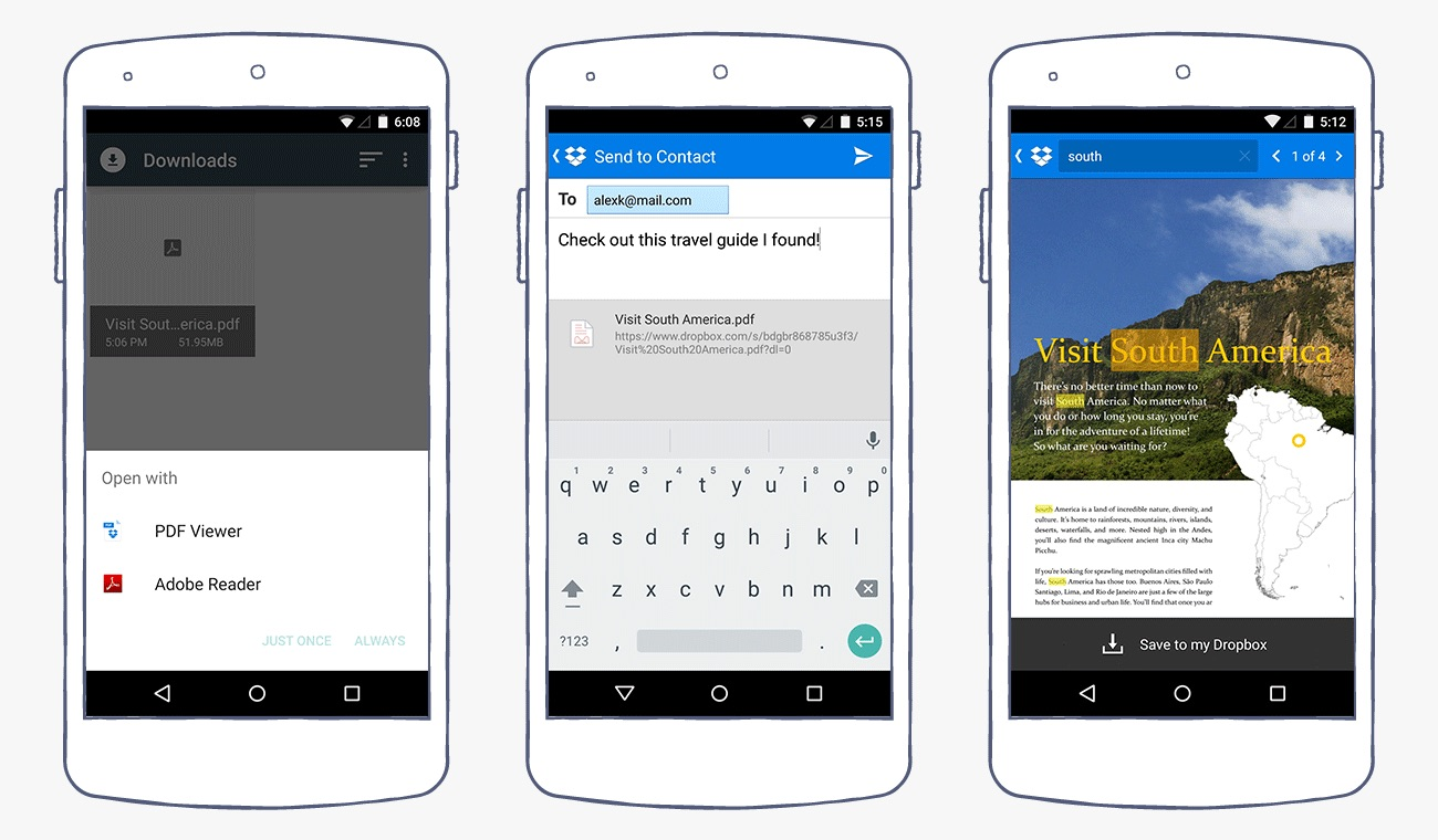 Android dropbox PDF Update