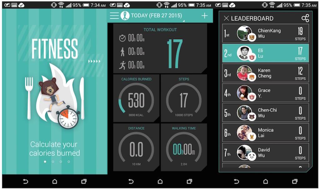 app fitness HTC