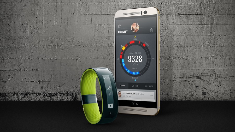 Android fitness tracker Fitnessband GPS HTC iOS Nucleus RTOS