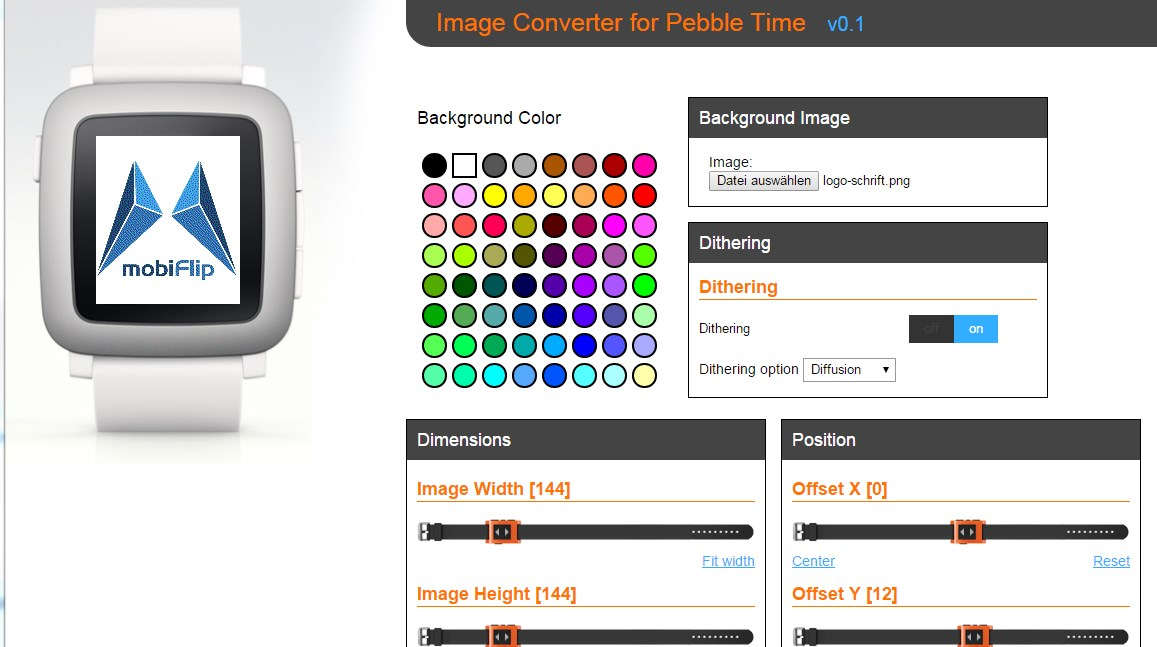 Android Browser iOS Pebble smartwatch time Watchface