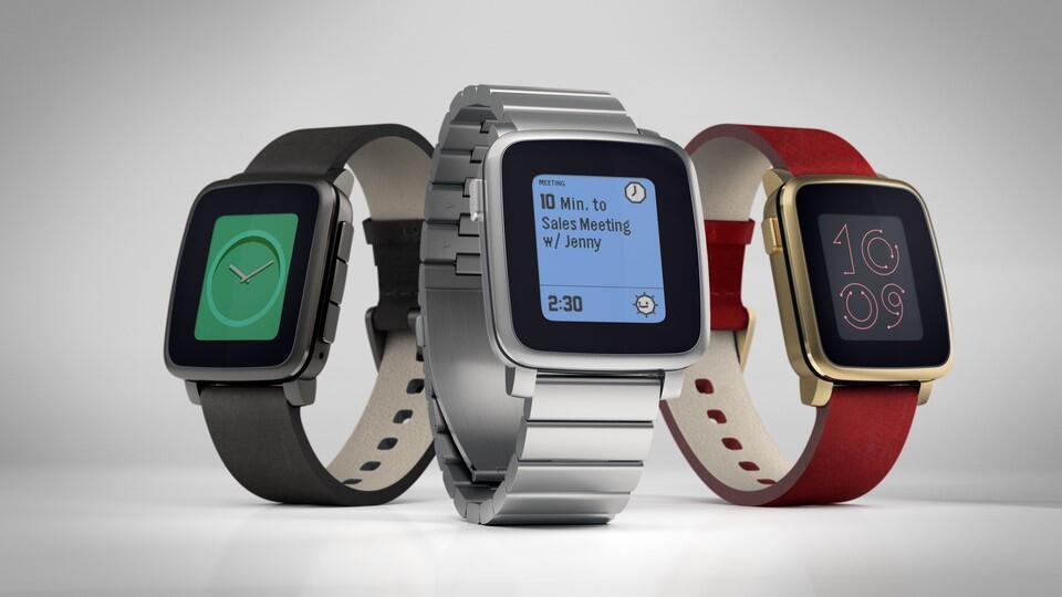 kickstarter Pebble smartwatch time