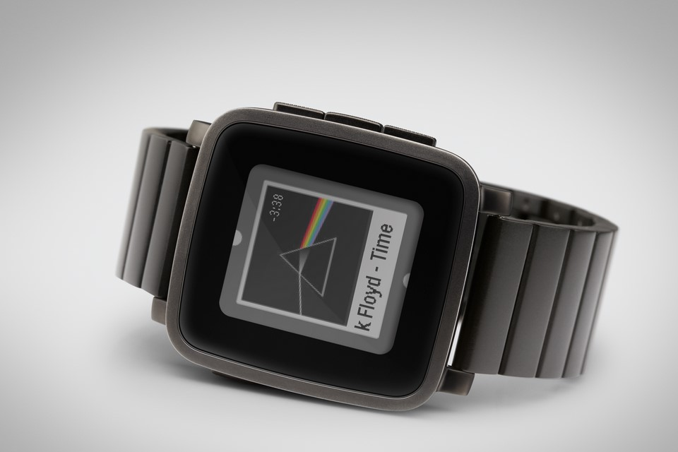 Android iOS kickstarter Pebble steel time