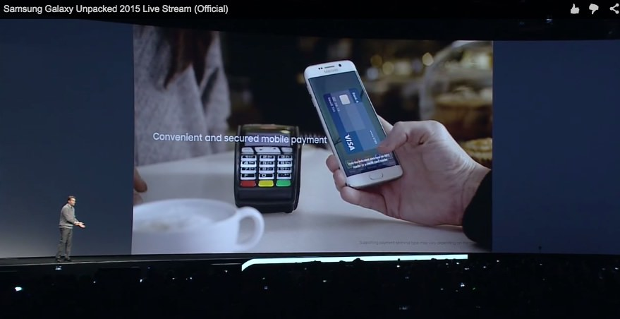 Kabelloses Bezahlen mobile payment MWC2015 pay payment Samsung Samsung Pay