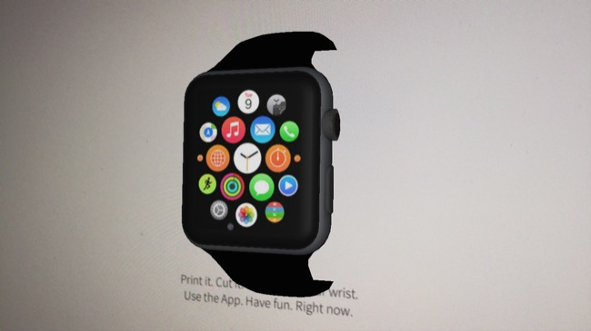 Apple AR fun watch