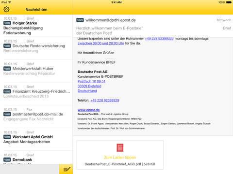app E-Post iOS post Update