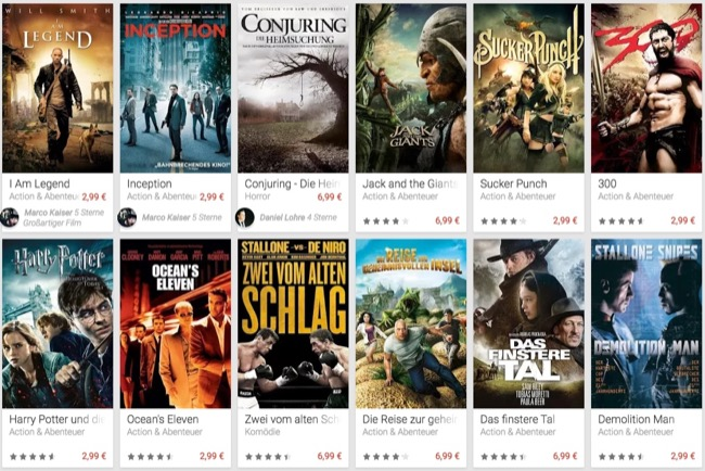 aktion Android Blockbuster deal film google play movies