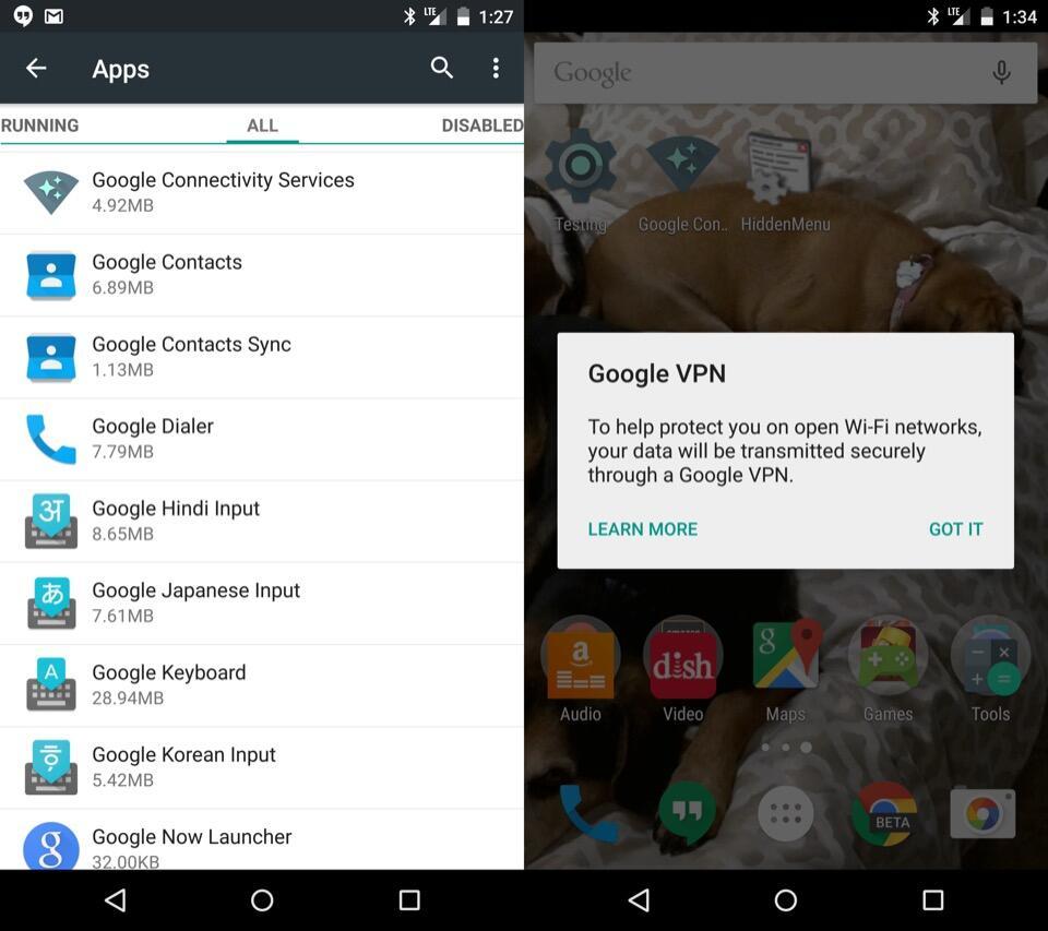 Android Google Netzwerk schutz Sicherheit vpn WiFi