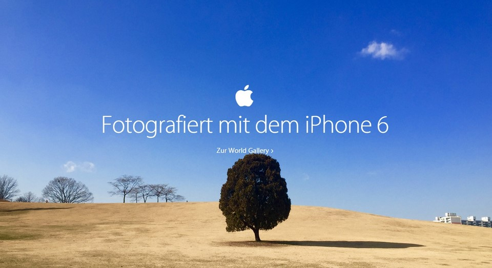 Apple iOS iphone Kamera kampagne marketing