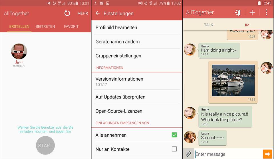 Android chaton galaxy Messenger Samsung WiFi