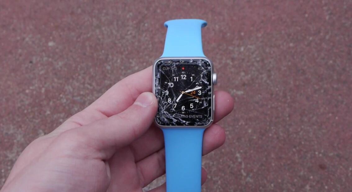 Apple Drop iOS kratzer test watch