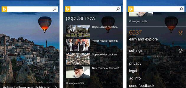 bing Mobile Website redesign suche Suchmaschine