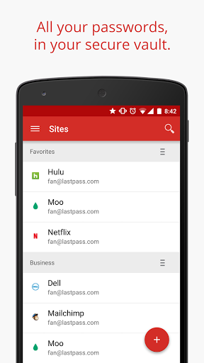 Android app Lastpass Material Design Passwort passwörter security Sicherheit Update