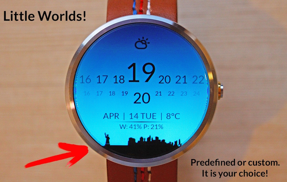 Android balken face watch wear