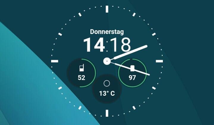 Android Watchface wear widget