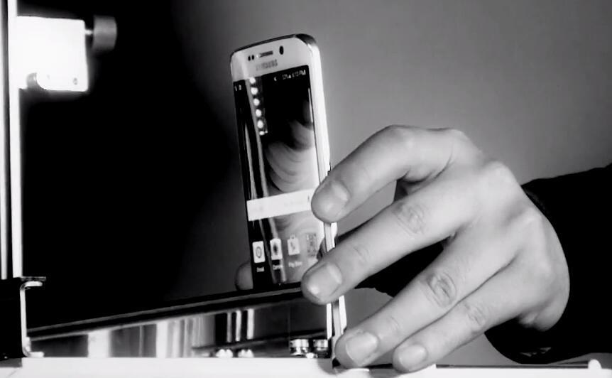 Display falltest glas Samsung Smartphones