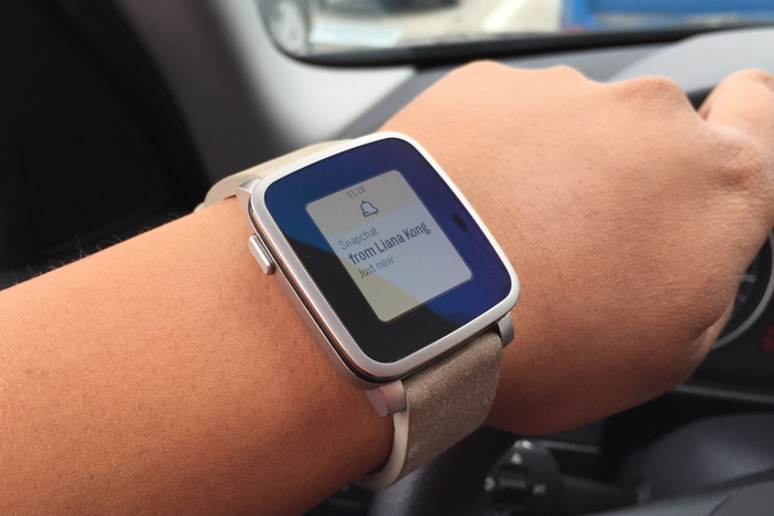Android iOS Pebble time