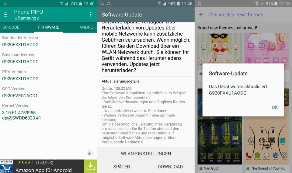 Android Firmware s6 Samsung Update