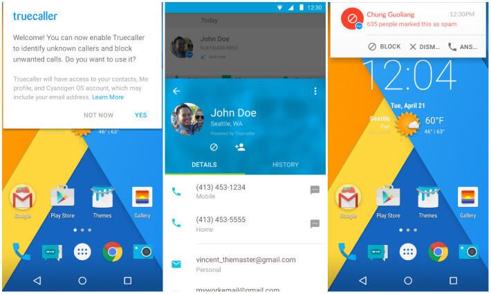 Android Anrufe Cyanogen Inc Cyanogen OS rufnummer