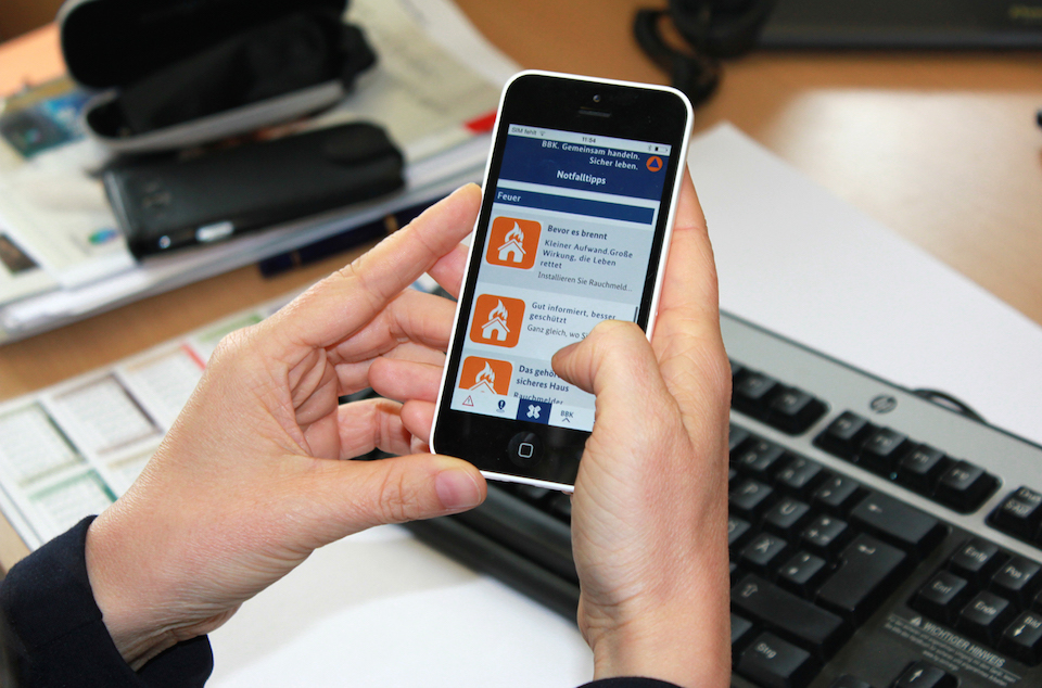 Android app iOS Katastrophenmeldung notfall warnung