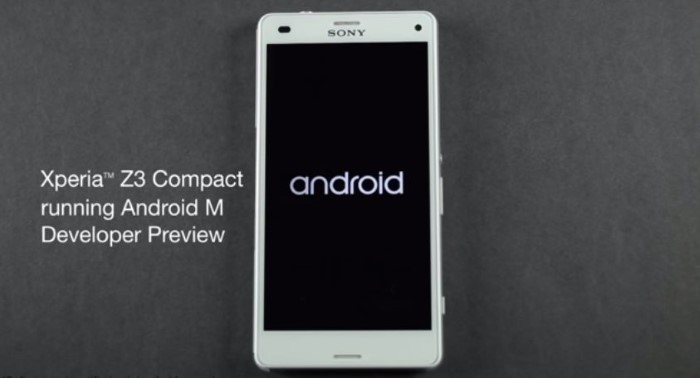 Android Android M developer preview Sony
