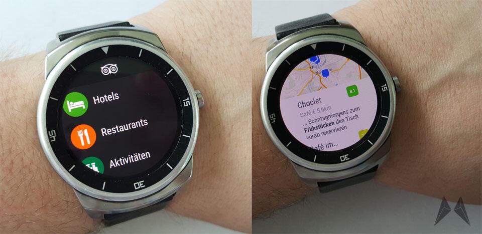 Android foursquare GPS Trip Advisor wear
