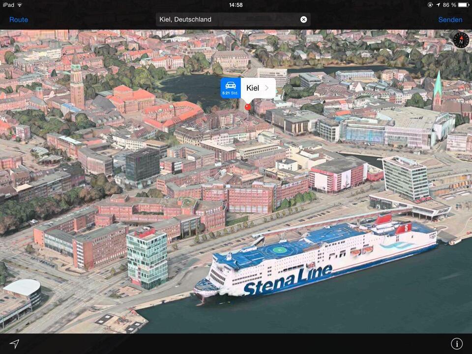Apple Flyover iOS karten Maps