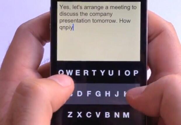 app iOS iphone Konzept Tastatur