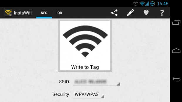 Android app barcode nfc root WiFi
