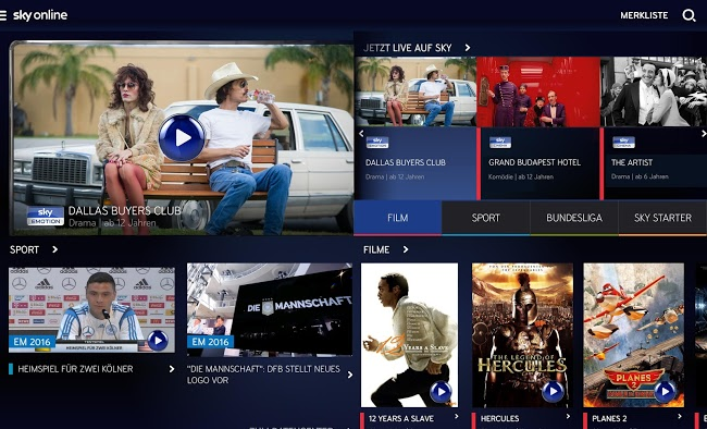 Android app online Sky streaming TV