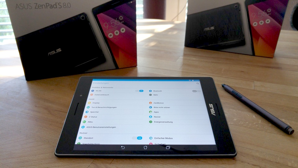 1 8S Asus IFA2015 review tablet test zenpad