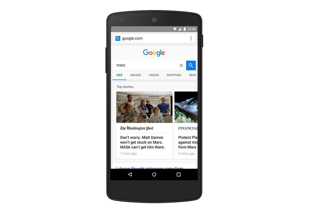 Google mobil suche