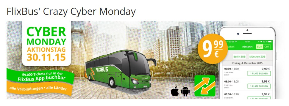 aktion Cyber Deals deal Flixbus