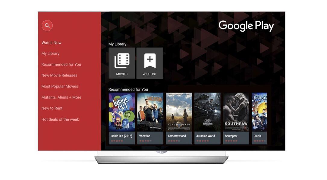 Google LG play TV webOS
