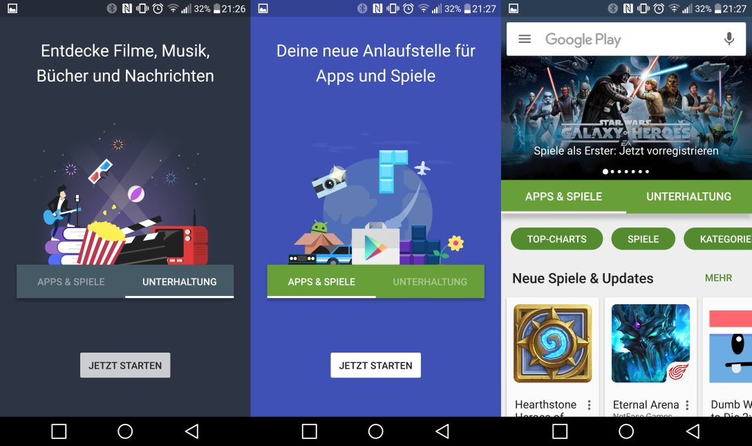 Android Google play Update