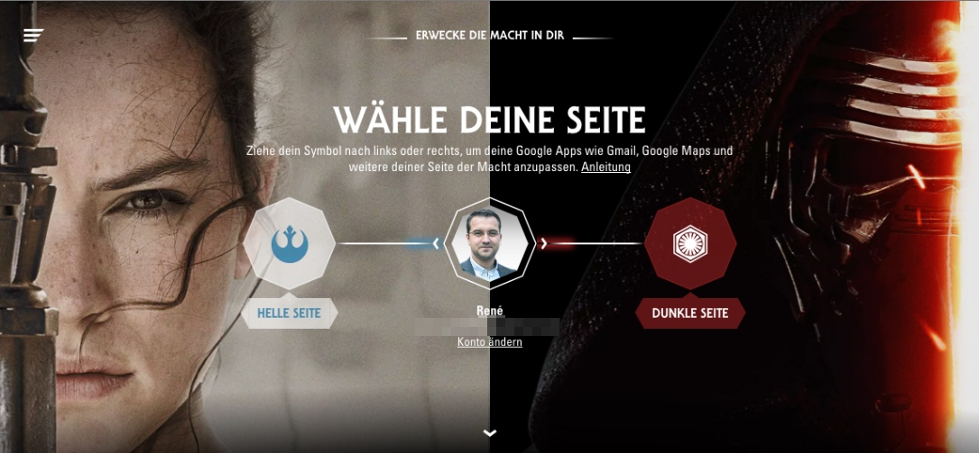aktion fun Google star wars