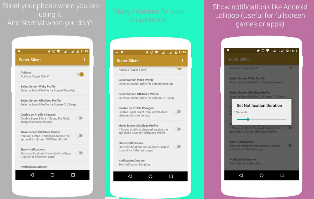 Android lautlos modus