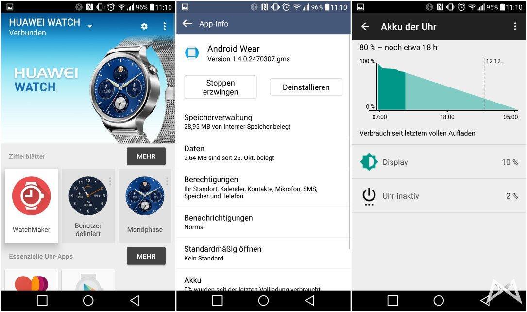 akku Android Statistik Update wear