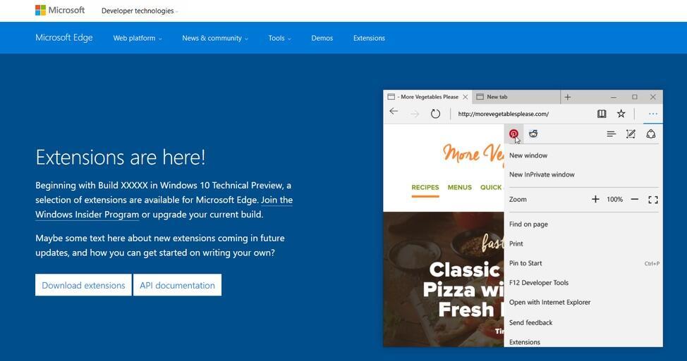 Browser edge erweiterung extension microsoft Windows