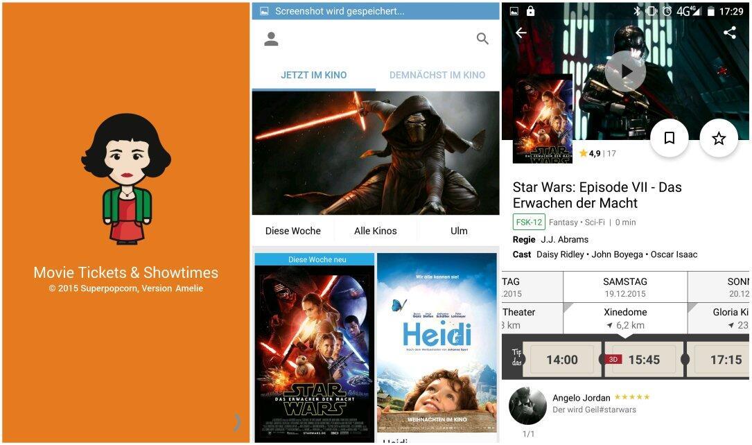 Android imdb Kino popcorn