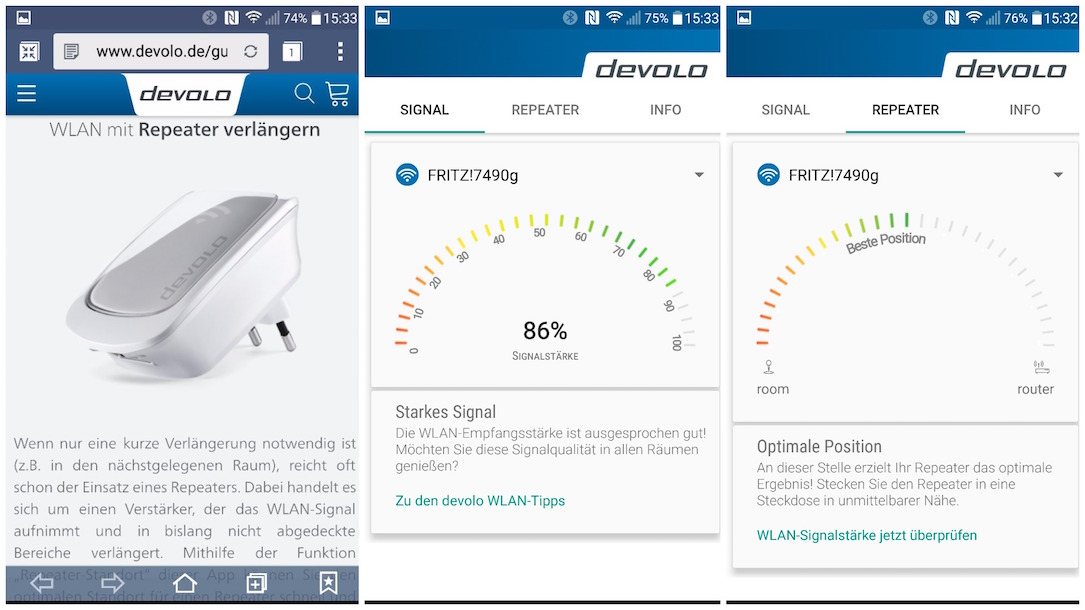 Android devolo hilfe Optimierung WiFi Wlan