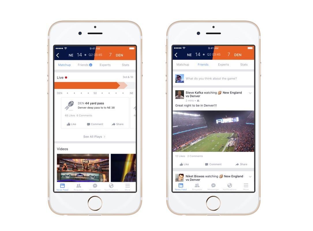 facebook Live Sport