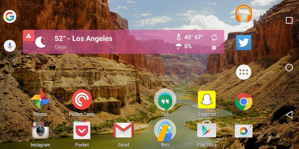 Google Google Now Launcher Update