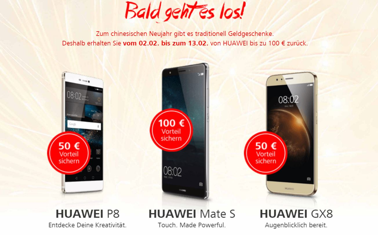 Android cashback Huawei Huawei P8